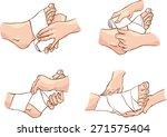 foot bandage technique  | Shutterstock .eps vector #271575404