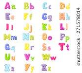 cartoon alphabet | Shutterstock . vector #271578014