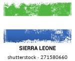 sierra leone grunge flag...