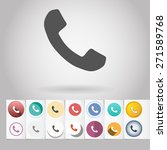 colored vector flat phone...   Shutterstock .eps vector #271589768