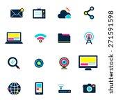 social media connection... | Shutterstock .eps vector #271591598
