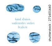 hand drawn watercolor vector... | Shutterstock .eps vector #271601660