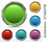 set of round buttons | Shutterstock .eps vector #271602758
