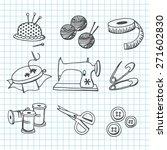 a vector illustration set of... | Shutterstock .eps vector #271602830