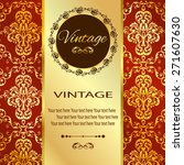 vintage vector pattern. hand... | Shutterstock .eps vector #271607630