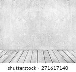 grey cement wall and wooden... | Shutterstock . vector #271617140