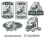 set of vector logos. truck...   Shutterstock .eps vector #271620029