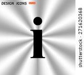 icon of info. icon. vector... | Shutterstock .eps vector #271620368