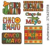 collection of mexican cinco de... | Shutterstock .eps vector #271625558