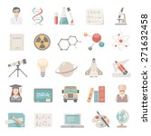 flat icons   science and... | Shutterstock .eps vector #271632458