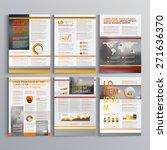 striped brochure template... | Shutterstock .eps vector #271636370