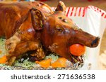 decorated and roast suckling... | Shutterstock . vector #271636538