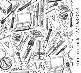 beauty makeup set seamless... | Shutterstock .eps vector #271637054