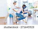 woman having back massage in...   Shutterstock . vector #271645523