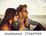 young man and young woman on... | Shutterstock . vector #271647434