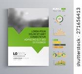 white brochure template design... | Shutterstock .eps vector #271656413