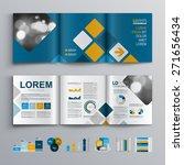 blue brochure template design... | Shutterstock .eps vector #271656434