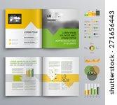 white brochure template design... | Shutterstock .eps vector #271656443
