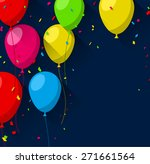celebration background with... | Shutterstock .eps vector #271661564