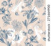beautiful retro flower vector... | Shutterstock .eps vector #271664900