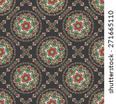 seamless pattern with ethnic... | Shutterstock .eps vector #271665110