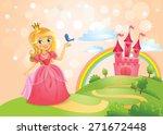 fairytale landscape  beautiful... | Shutterstock .eps vector #271672448
