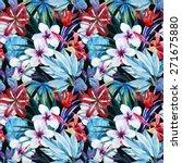 watercolor  lily  gibiskuss ... | Shutterstock . vector #271675880