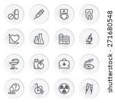 medicine flat contour icons on... | Shutterstock .eps vector #271680548