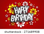 happy birthday greeting card on ... | Shutterstock .eps vector #271689908