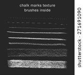 vector set of chalk marks... | Shutterstock .eps vector #271691090