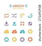 vector flat icon set   arrow