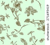 seamless floral pattern with... | Shutterstock .eps vector #271695419