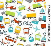seamless pattern with cars ... | Shutterstock .eps vector #271698923