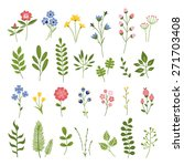 floral hand drawn vector set.... | Shutterstock .eps vector #271703408