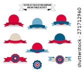 set of vector tri color... | Shutterstock .eps vector #271712960