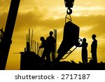 construction silhouette | Shutterstock . vector #2717187