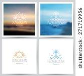 set of summer logo with sun ...   Shutterstock .eps vector #271719956