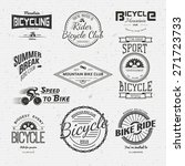 bicycle badges logos and labels ... | Shutterstock .eps vector #271723733
