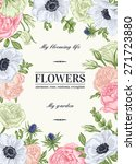 floral vector background with... | Shutterstock .eps vector #271723880