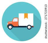 vector delivery truck icon  | Shutterstock .eps vector #271723913