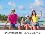 family vacation. airplane in... | Shutterstock . vector #271728749
