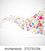 vector background with flowers. ... | Shutterstock .eps vector #271731236