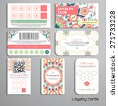 set of loyalty cards. beautiful ... | Shutterstock .eps vector #271733228
