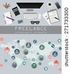 freelance infographic template. ... | Shutterstock .eps vector #271733300