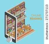 online reading conceptual... | Shutterstock .eps vector #271737113