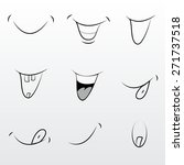 cute set of modern comics mouth | Shutterstock .eps vector #271737518