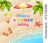 summer  illustration with... | Shutterstock .eps vector #271738388