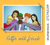 photo with friends taking... | Shutterstock .eps vector #271742159