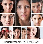 assorted facial expressions...   Shutterstock . vector #271743269
