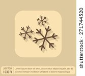 weather icon  snowflake sign | Shutterstock .eps vector #271744520
